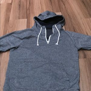 qwick dry striped sweatshirt